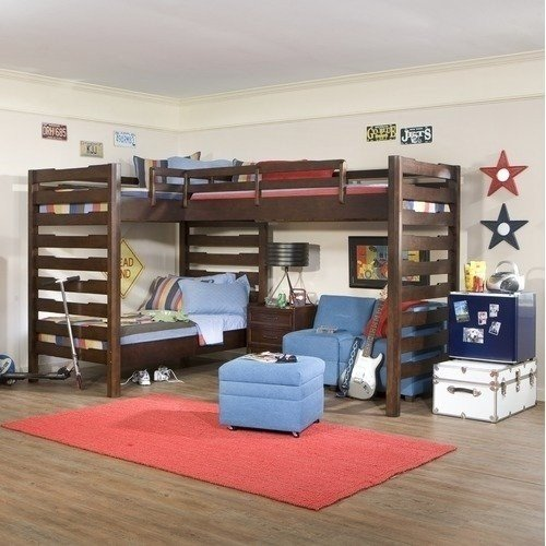 l shaped loft bunk beds ideas on foter