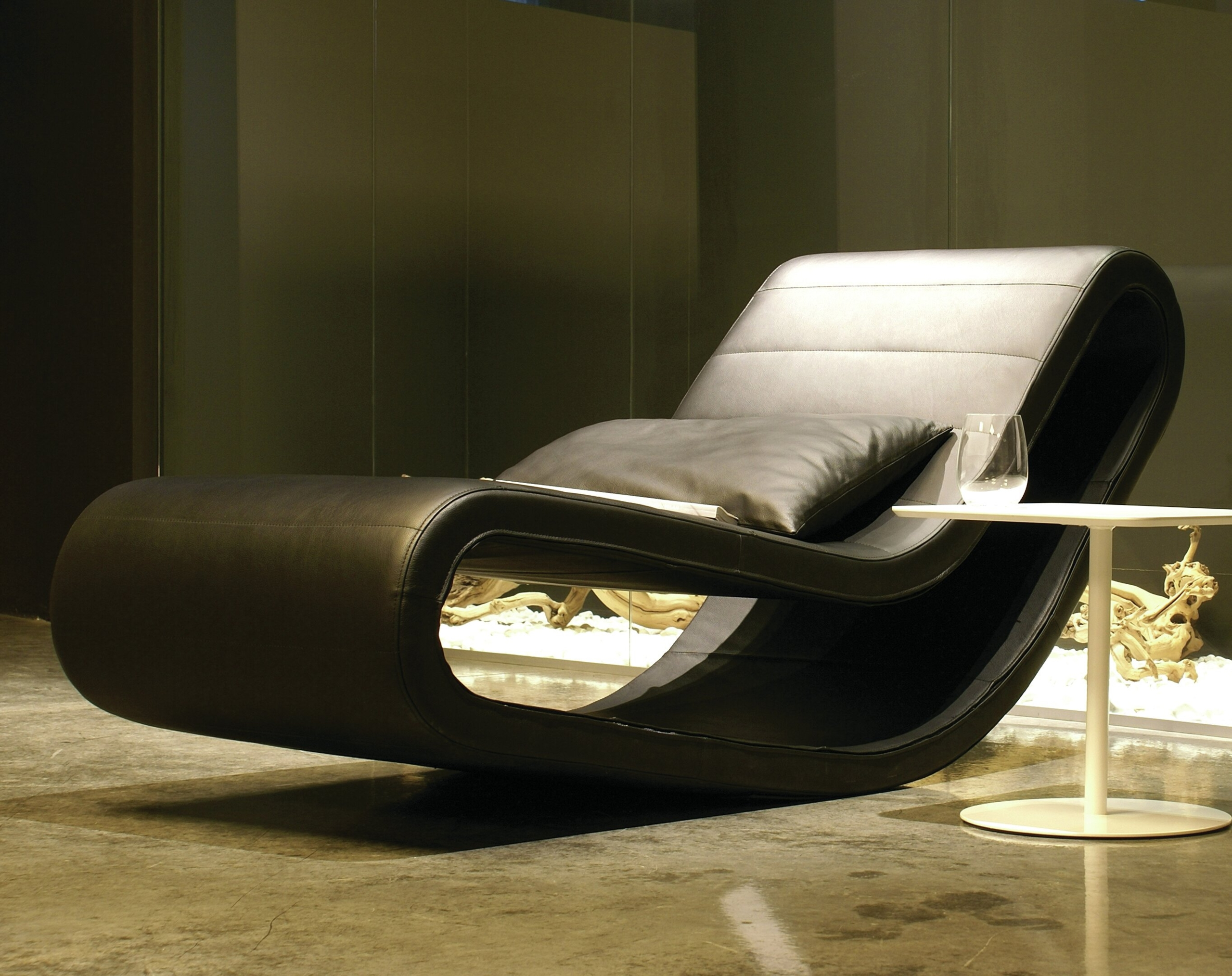 black leather chaise lounge ideas on