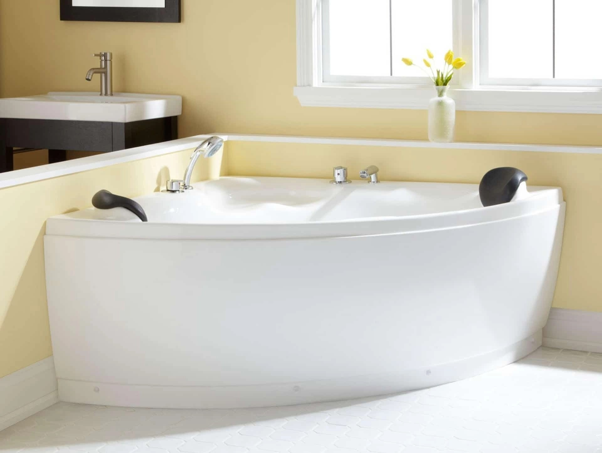 corner freestanding tub ideas on foter