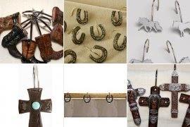 western shower curtain hooks ideas on