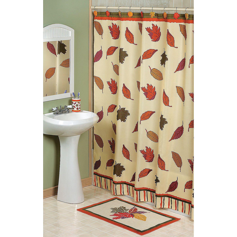 falling leaves shower curtain ideas