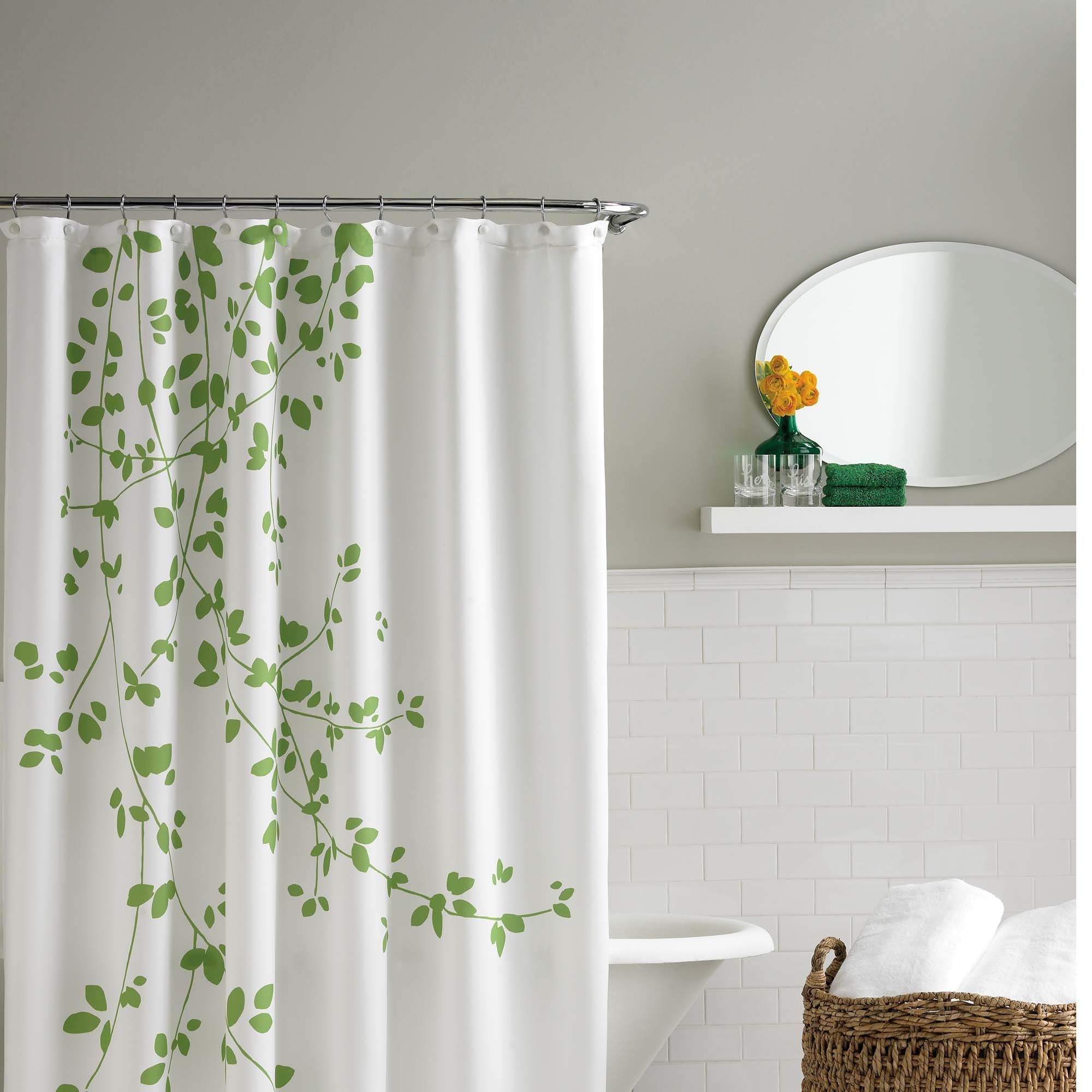 Leaves Fabric Shower Curtain Foter