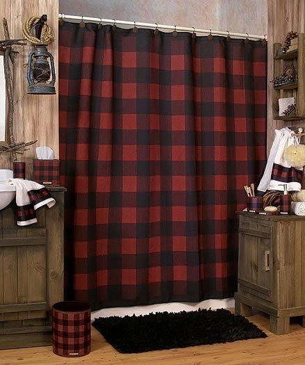 lodge rustic shower curtain ideas on