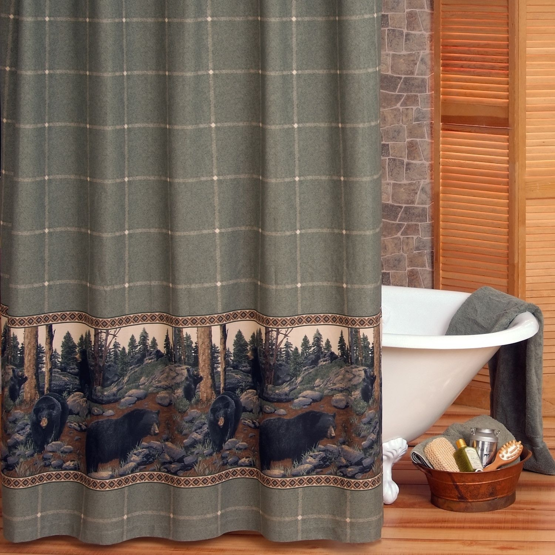 black bear shower curtains ideas on foter