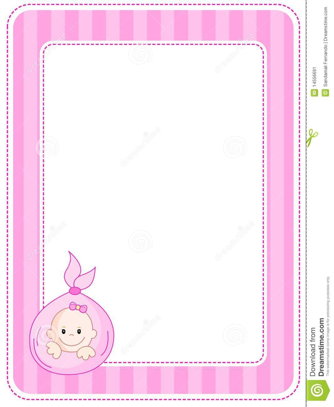 baby shower border templates