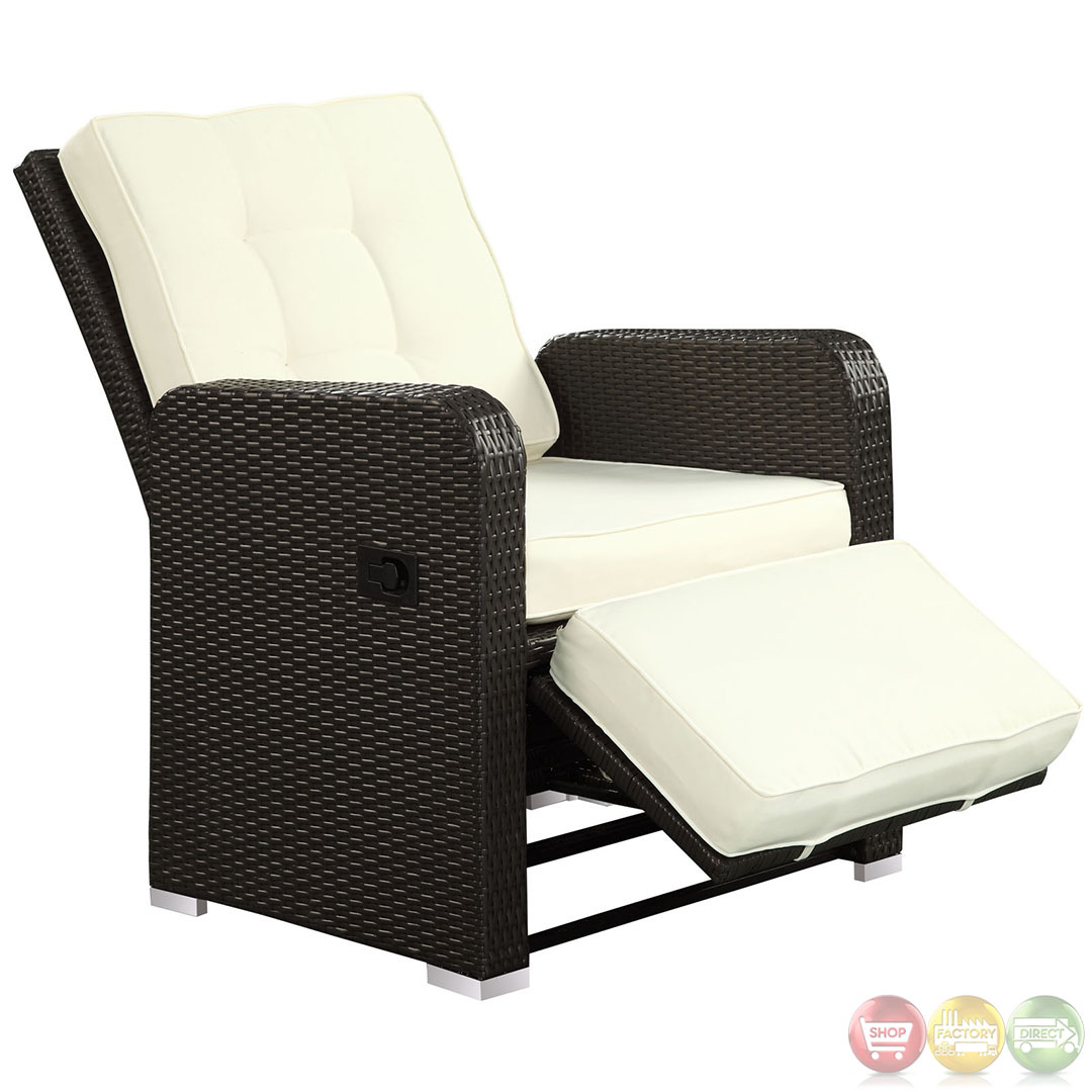 Rattan Recliners   Foter Commence Deep Seating Recliner Chair with Cushions