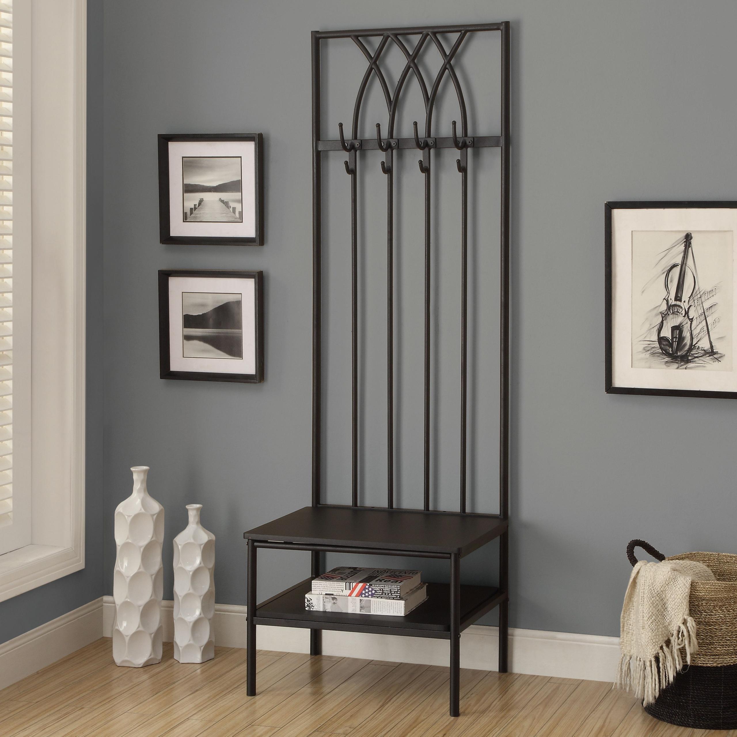 hallway coat rack and bench ideas on