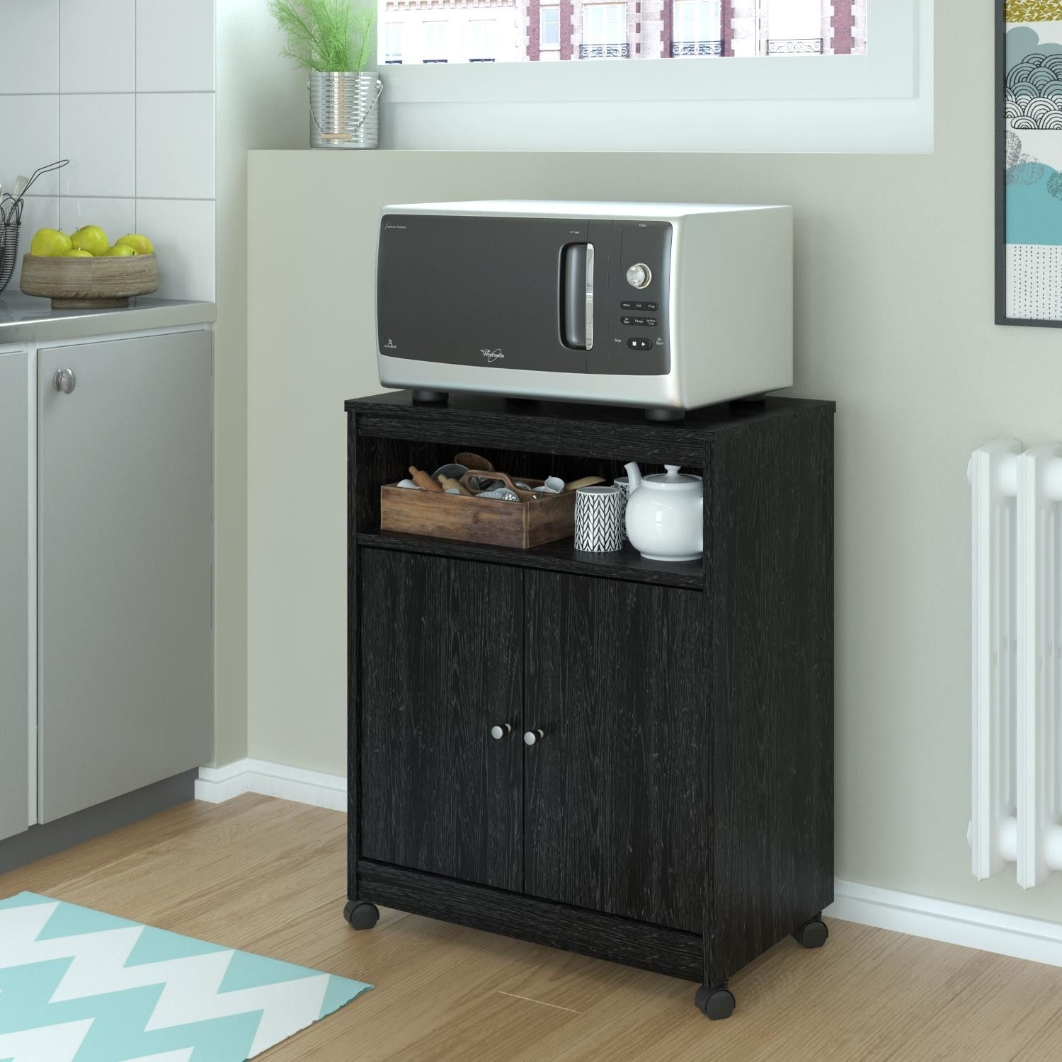 rustic microwave cart ideas on foter