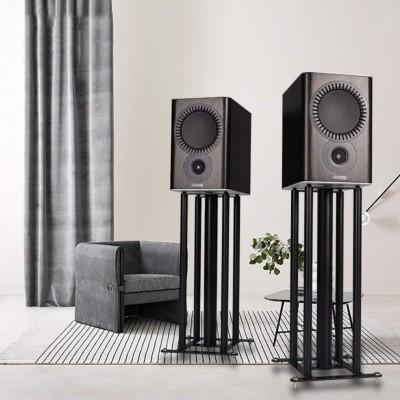 Black Composite Boardmaterial Speaker Stand