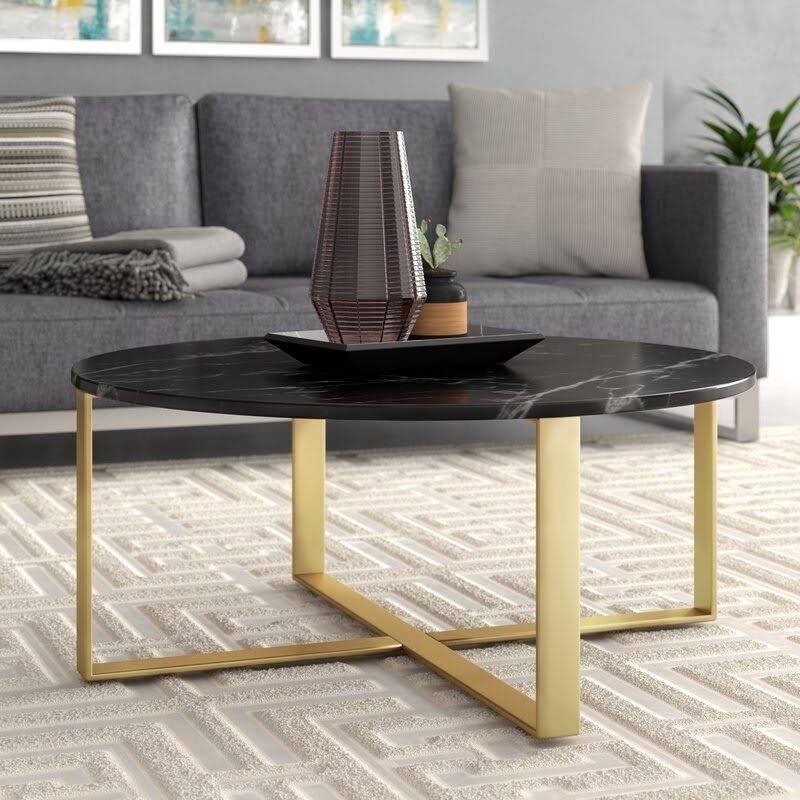 marble and gold coffee table ideas on