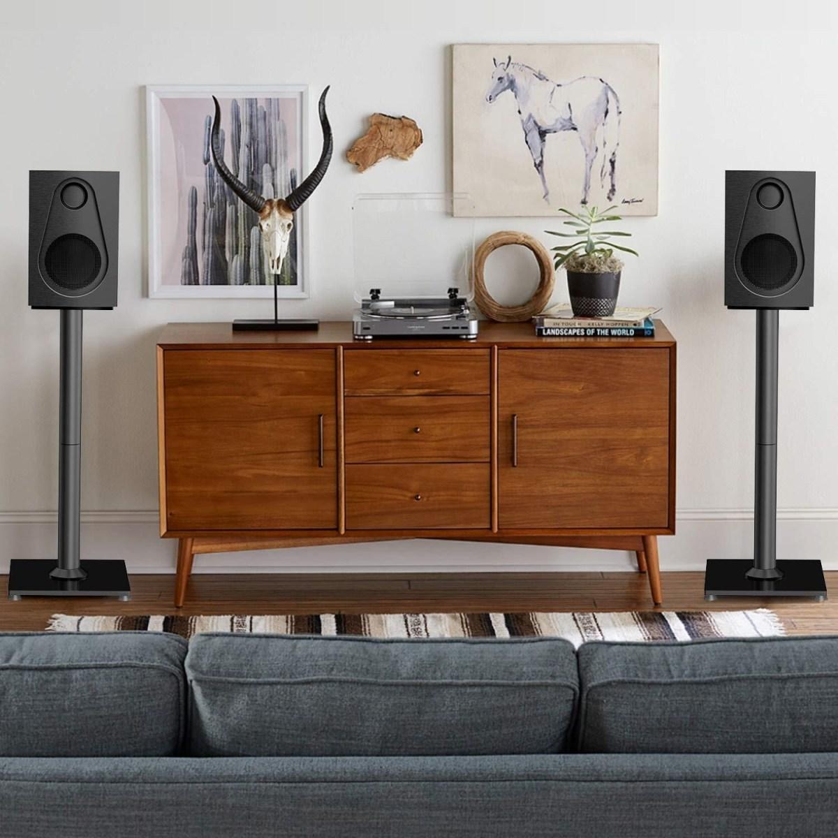 Universal Sleek Appearance Floor Speaker Stands