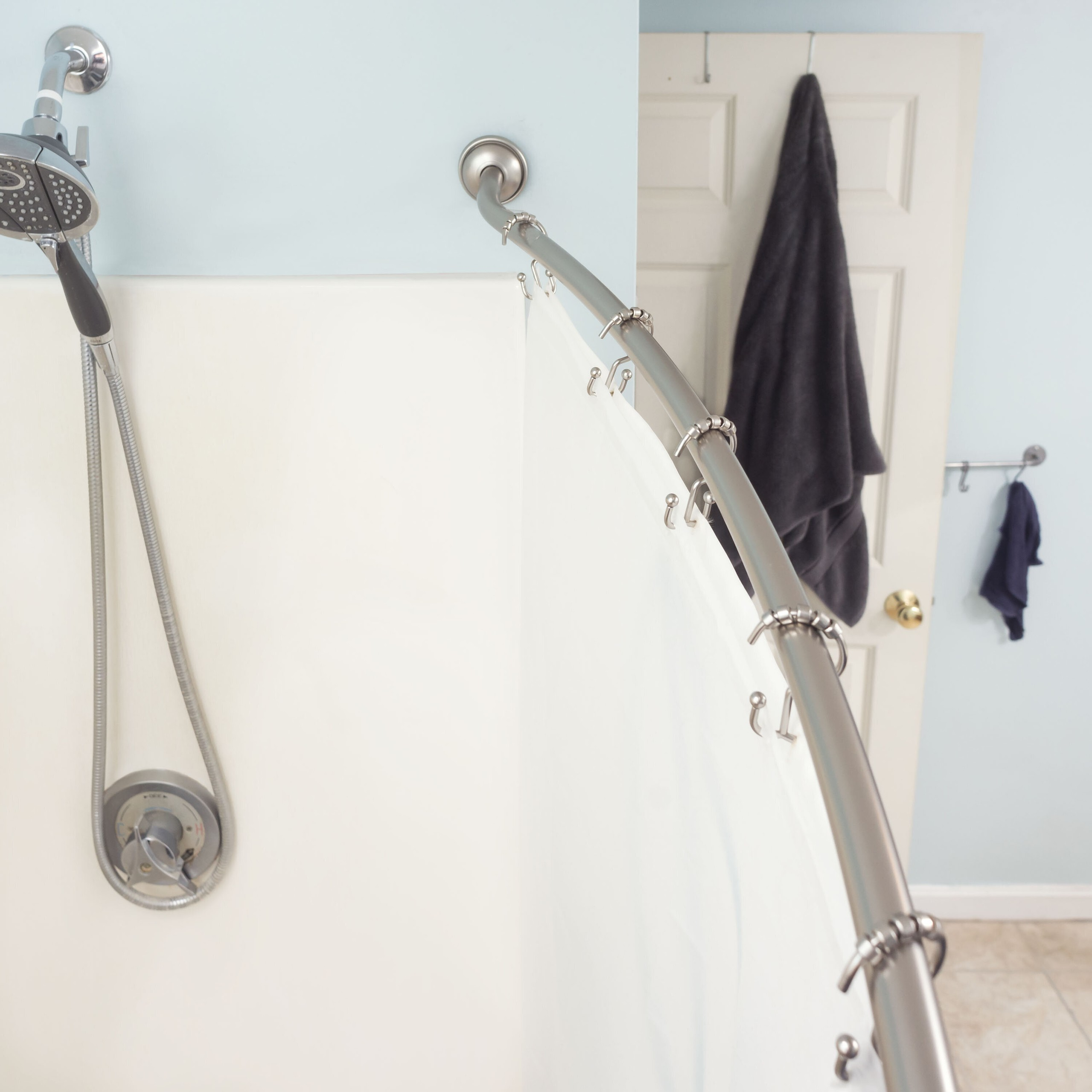 how to install a shower curtain rod foter