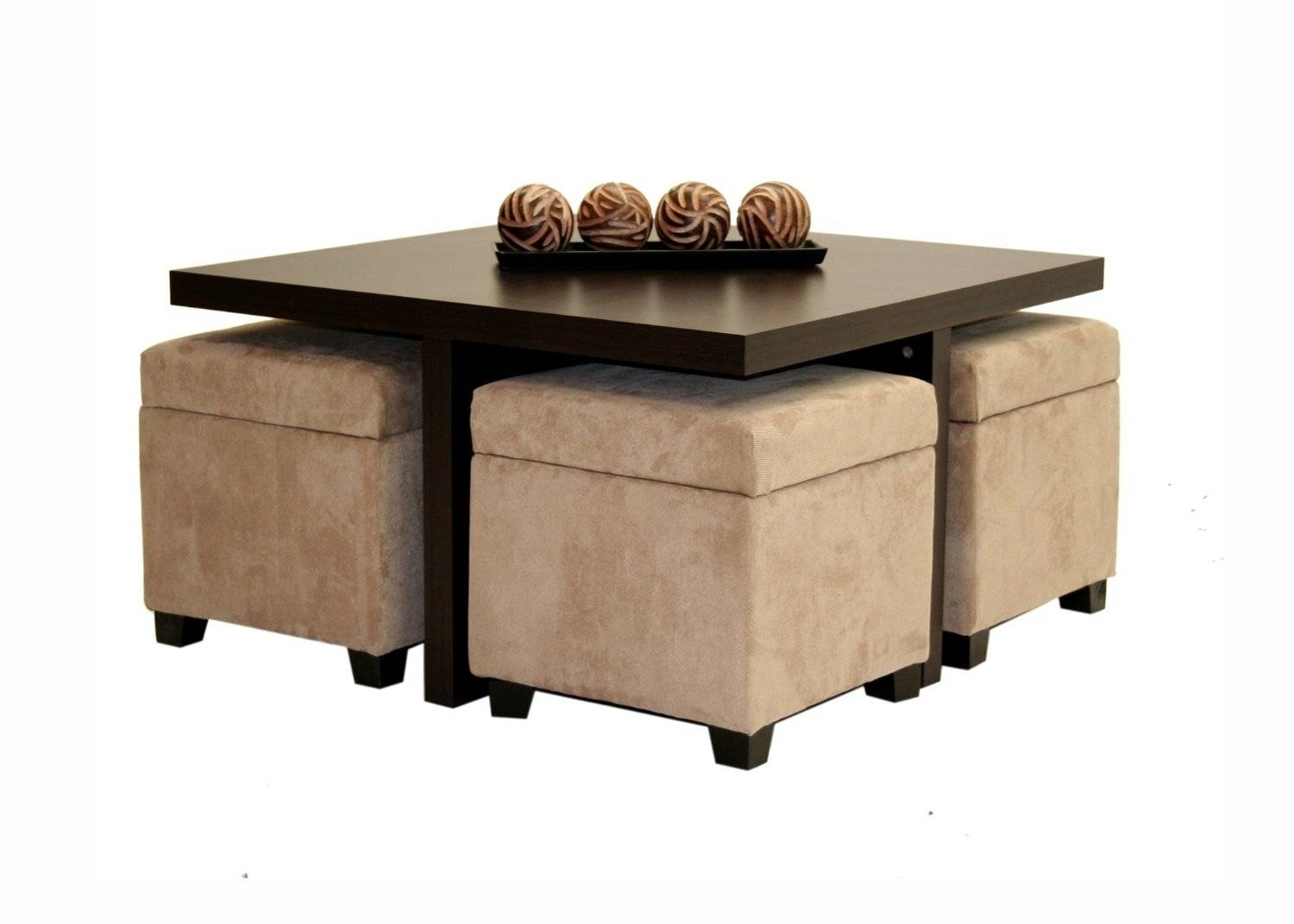 coffee tables with seating underneath