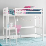 Girls White Loft Bed With Desk Ideas On Foter
