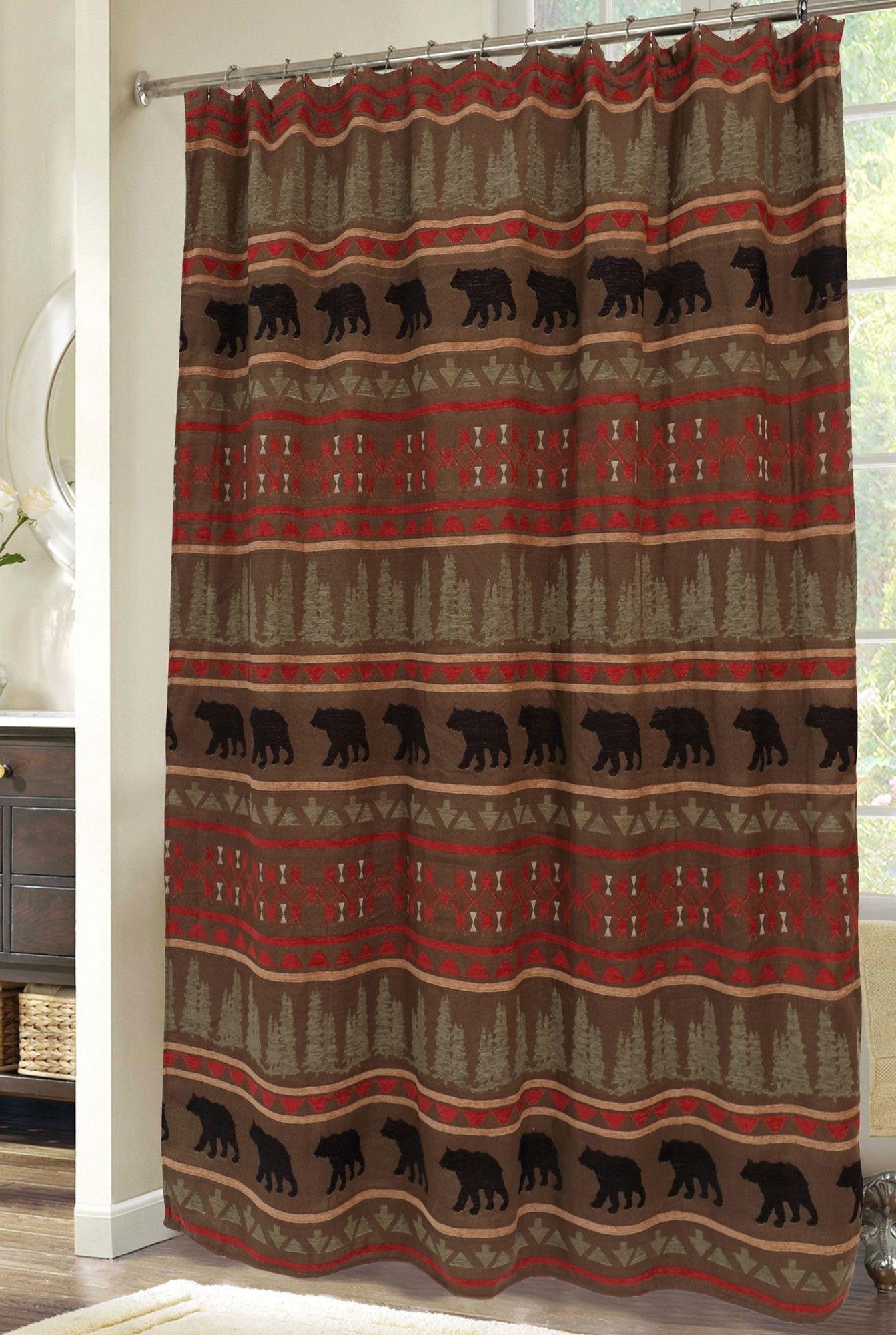 moose bear shower curtain ideas on foter