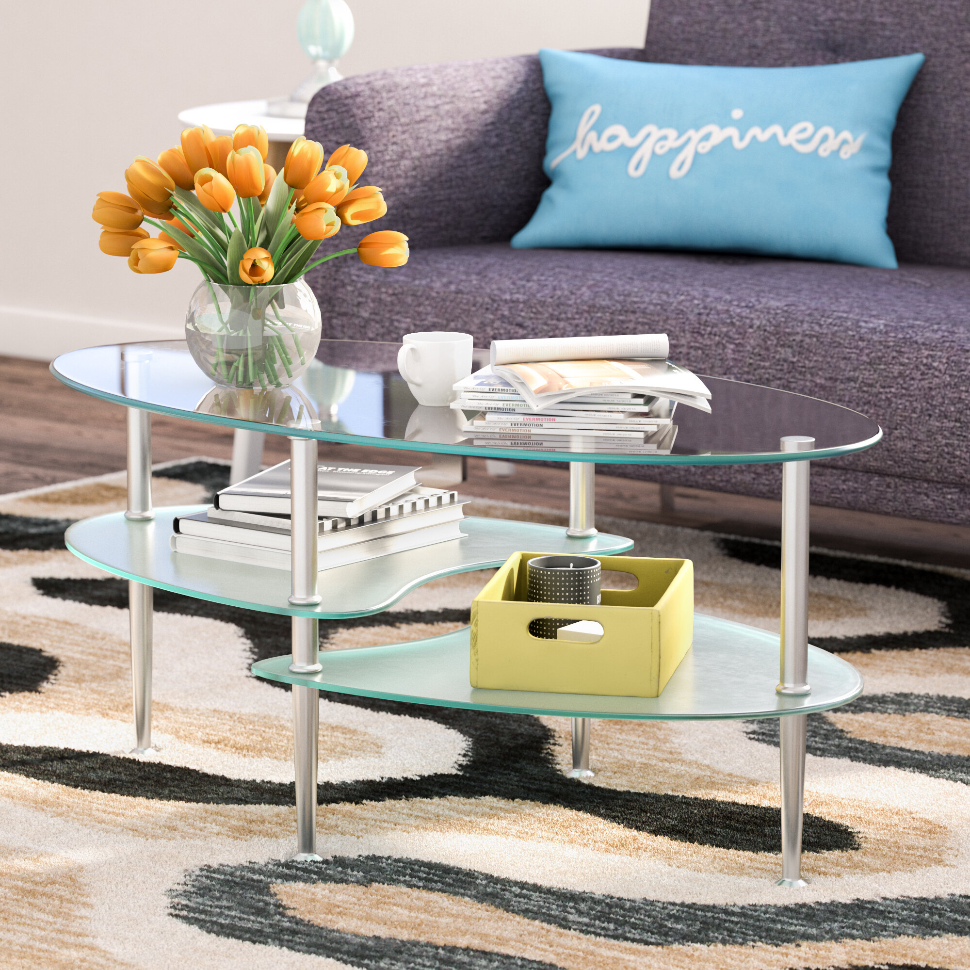 oval glass coffee table ideas on foter