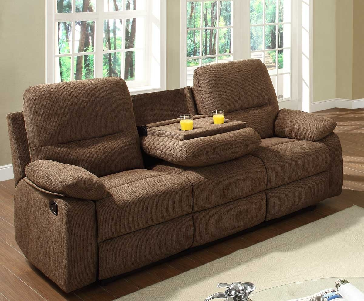 reclining loveseat with console cup