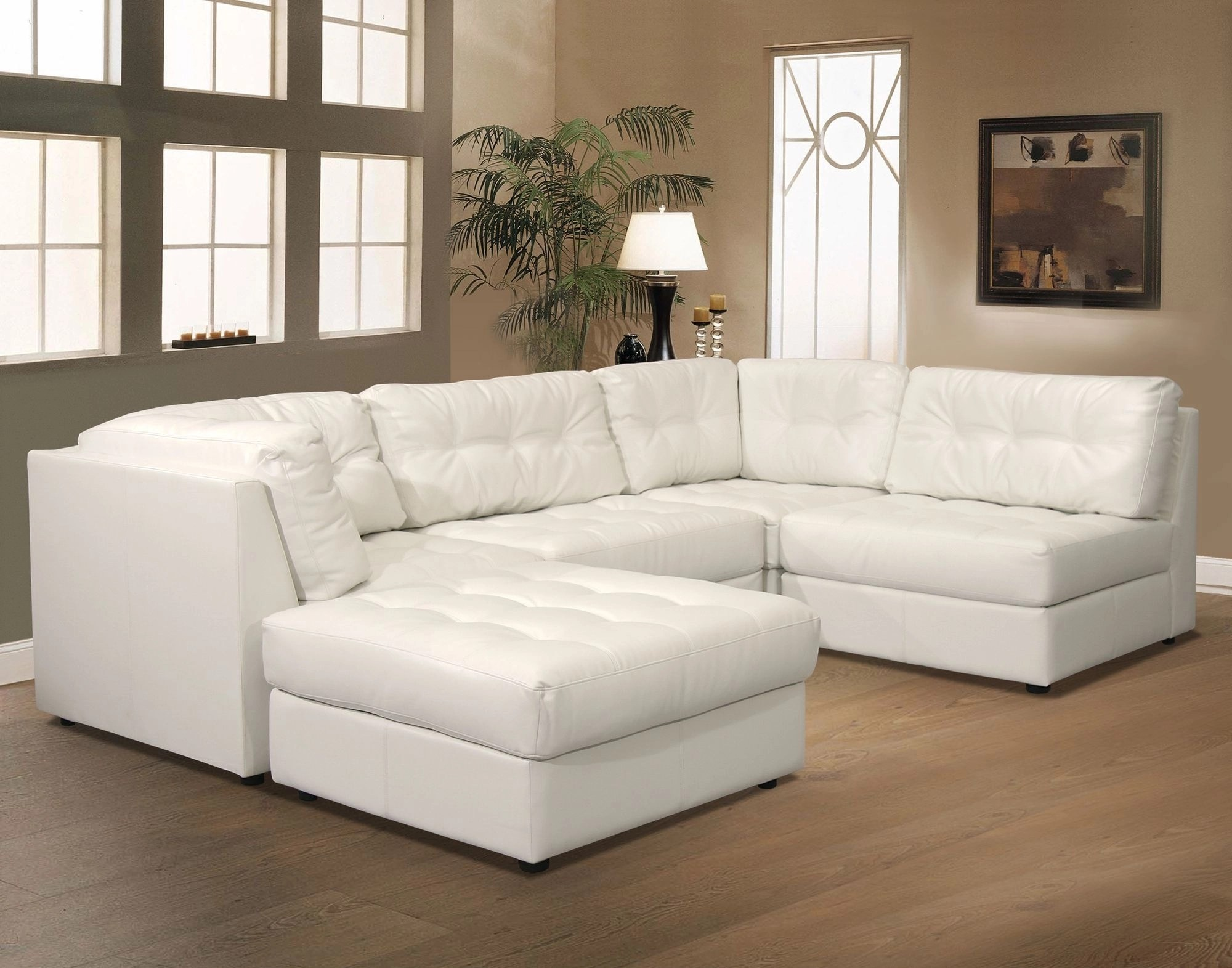 Small White Leather Sectional Ideas On Foter