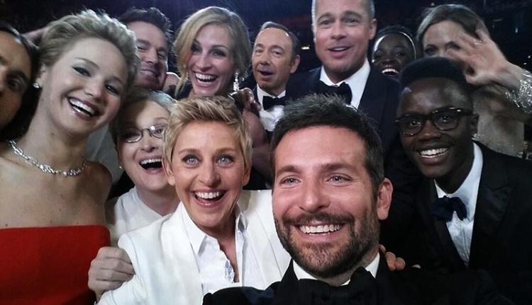 Csoportszelfi az Oscaron