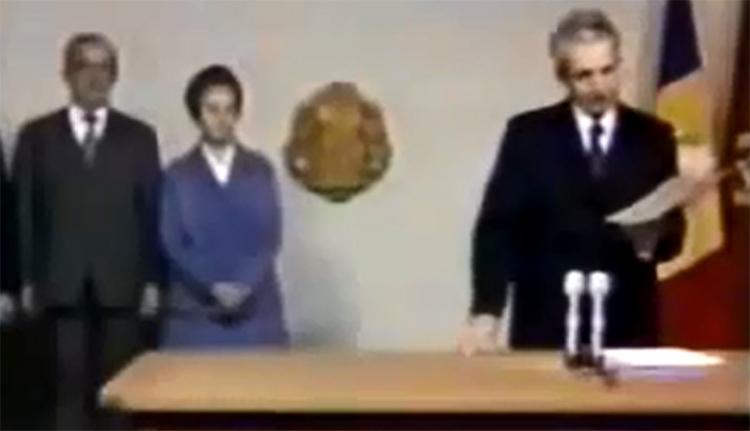 Ceauşescu december 20-i televíziós beszéde