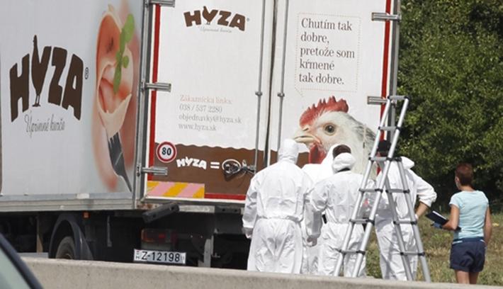 Mintegy ötven illegális bevándorlót hagytak megfulladni egy furgonban