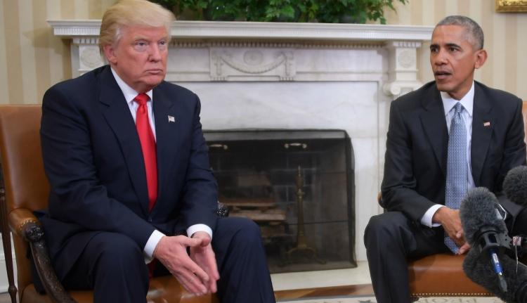A tervezettnél jóval hosszabbra nyúlt Obama és Trump találkozója