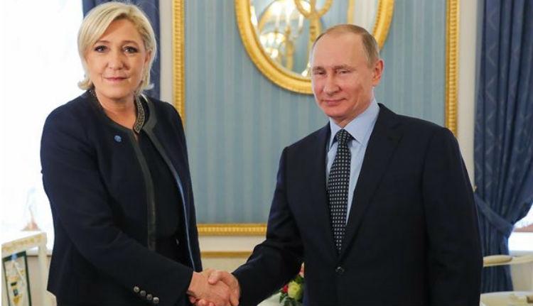 A Kremlben barátkozott Putyin és Le Pen