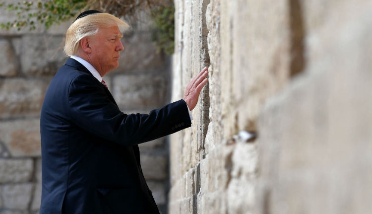 Odalett Trump harciassága Izraelben