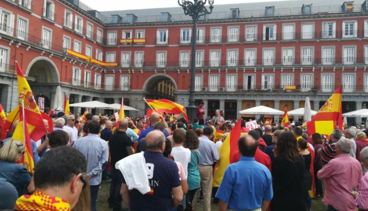 A függetlenség ellen tüntettek Barcelonában