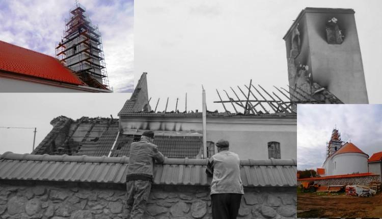 Jó hír: a végéhez közeledik a leégett atyhai templom felújítása