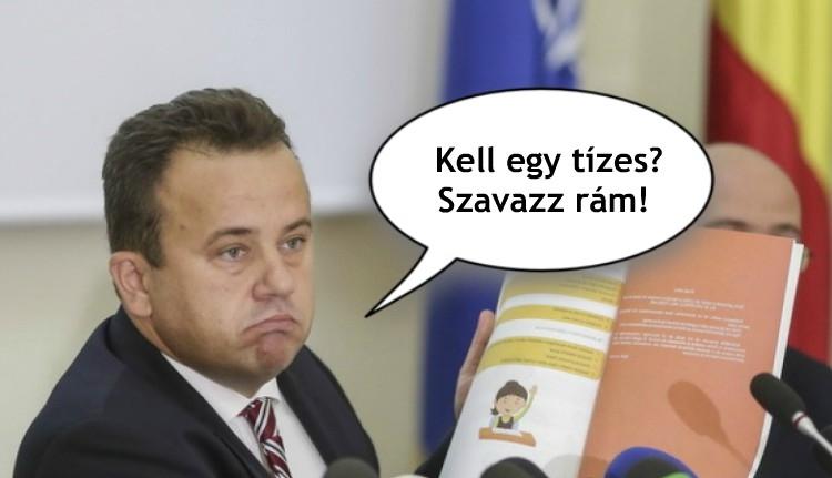 Liviu Pop román tanügyminiszter megint hatalmasat nyilatkozott