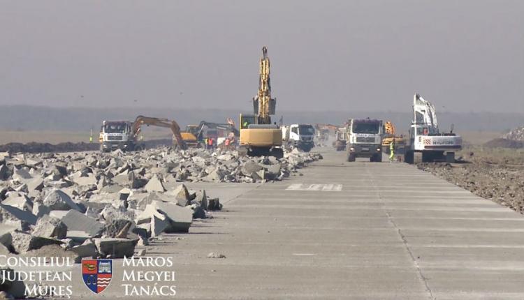 Már fel is függesztették a felújítási munkálatokat a marosvásárhelyi repülőtéren
