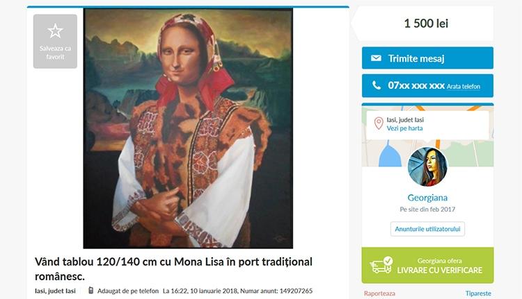 Mona Lisa, a moldvai parasztasszony