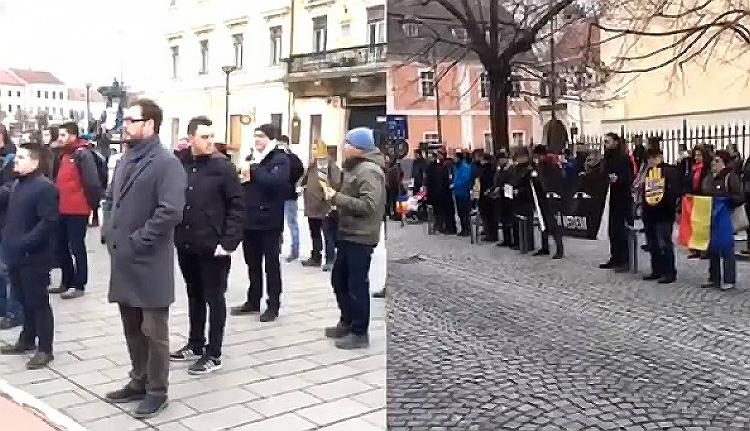 Együtt tüntettek az igazságügyért Kolozsváron és Szebenben (VIDEÓval)