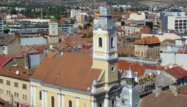 Megint összefirkálták a kolozsvári evangélikus templom falát