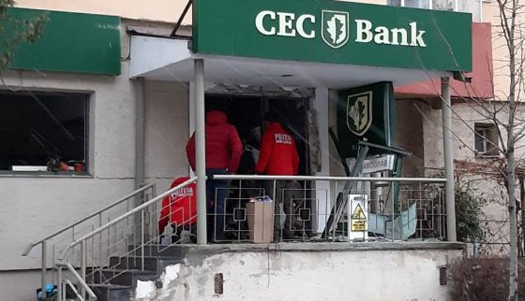 Bankot robbantottak Brassóban. Szó szerint