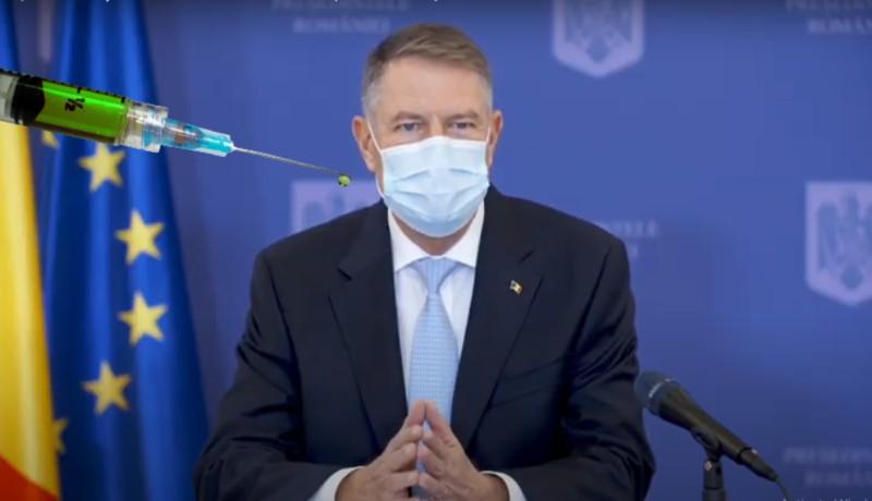 Pénteken nagy csinnadrattával Iohannis is beoltatja magát a vírus ellen (VIDEÓval)