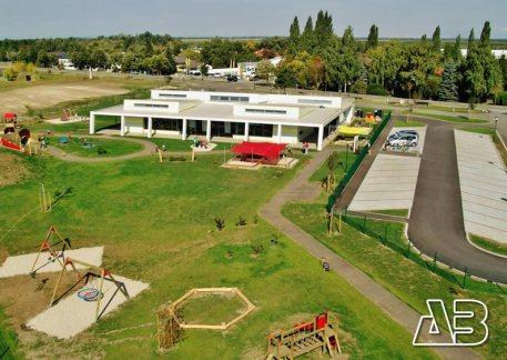 Luftbild vom Kindergarten Andau