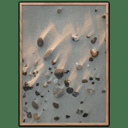 Beach stone poster