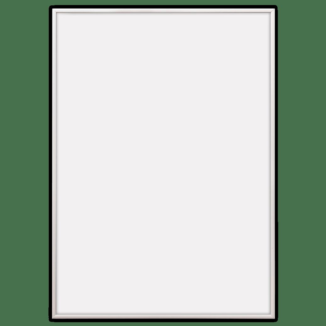 Frames in white aluminium