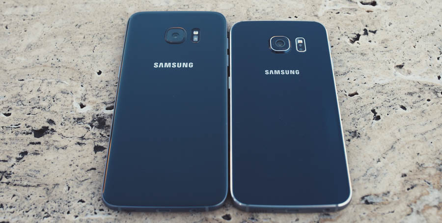 Samsung S7 vs S6 Back