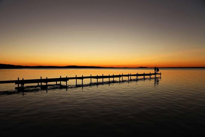 Landschaftsbilder - Sonnentuntergang-See