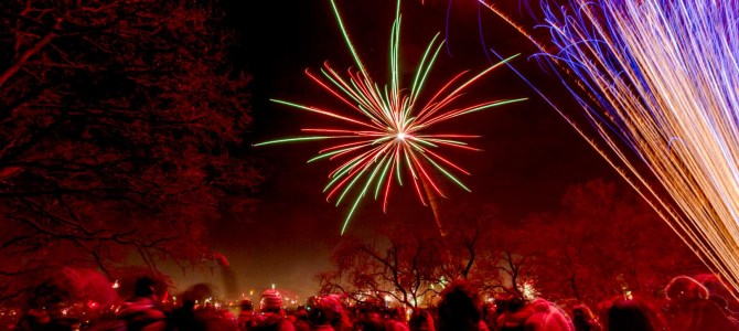 Silvester Feuerwerk im Kirchner Garten