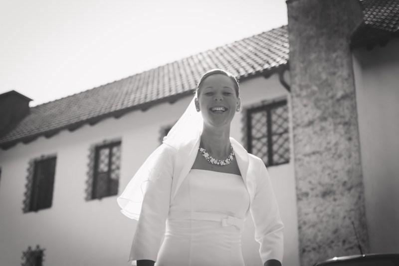 Hochzeitsfoto vom Fotograf im Mostviertel, Braut Portrait im Gegenlicht