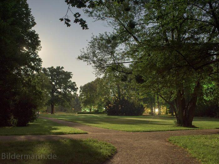 """Foto: Mitternacht bei Vollmond im """"Großen Garten"""" Dresden"""