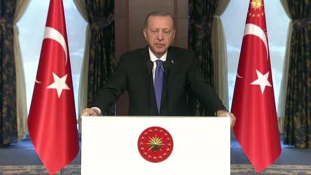 Son dakika haberleri... Cumhurbaşkanı Erdoğan, TASC TV'nin yayına başlaması dolayısıyla gerçekleştirilen özel programa video mesaj gönderdi