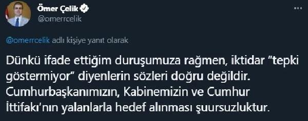 AK Parti Sözcüsü Çelik: Cumhurbaşkanımızın, Kabinemizin ve Cumhur İttifakı'nın yalanlarla hedef alınması şuursuzluktur