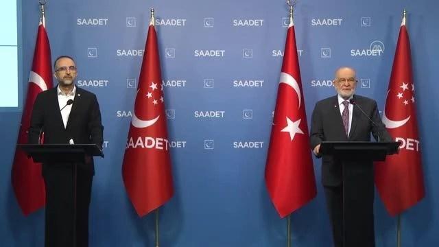 Son Dakika | Saadet Partisi Genel Başkanı Karamollaoğlu, HÜDA PAR Genel Başkanı Sağlam ile görüştü