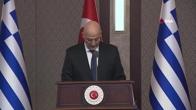 Yunanistan Dışişleri Bakanı Dendias ortak basın toplantısında konuştu