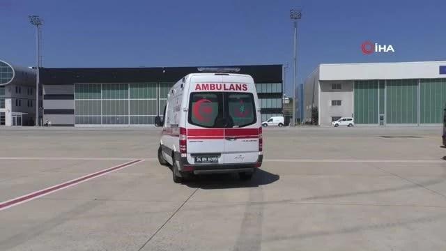 Minik Nura İsa'nın ambulans uçakla sağlığa yolculuğu